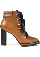 Tod's Woman Tasseled Leather Ankle Boots Light Brown