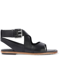 Tod's Woman Leather Sandals Black