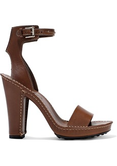 Tod's Woman Leather Sandals Chocolate