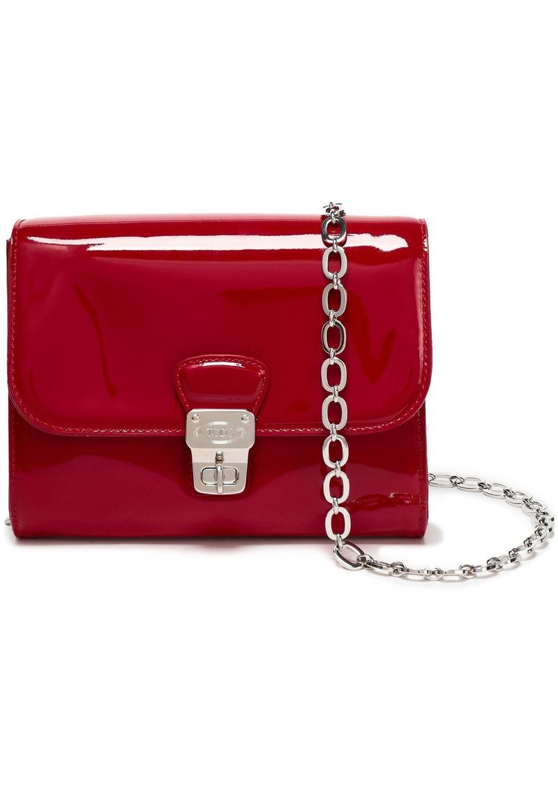 Tod's Woman Patent-leather Shoulder Bag Claret
