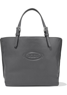 Tod's Woman Pebbled-leather Tote Anthracite