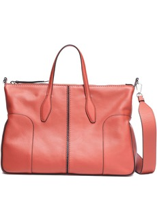 Tod's Woman Pebbled-leather Tote Brick