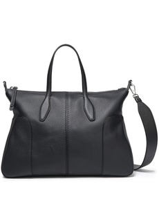Tod's Woman Pebbled-leather Tote Black