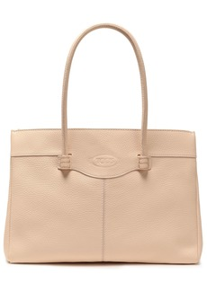 Tod's Woman Pebbled-leather Tote Cream
