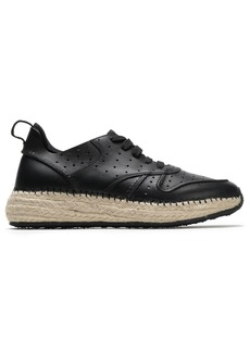 Tod's Woman Perforated Leather Sneakers Black