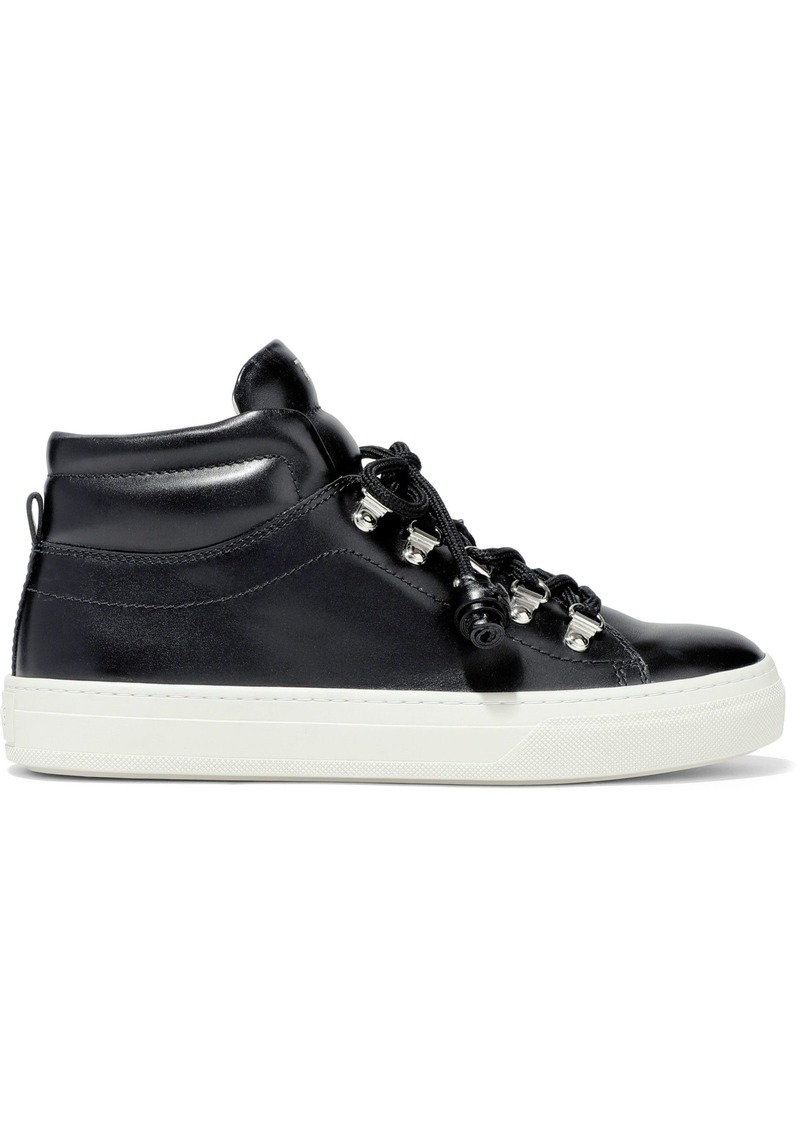 Tod's Woman Sportivo Xk Leather High-top Sneakers Black