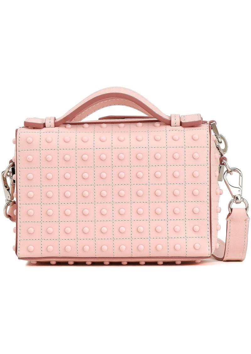 Tod's Woman Studded Leather Shoulder Bag Pastel Pink