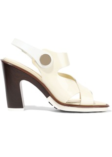 Tod's Woman Studded Patent-leather Sandals Ivory