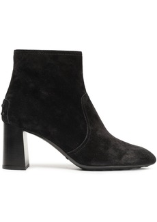 Tod's Woman Suede Ankle Boots Black