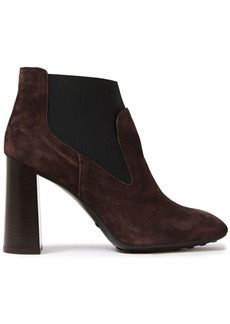 Tod's Woman Suede Ankle Boots Chocolate