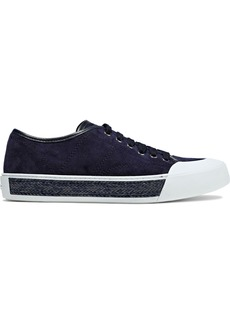 Tod's Woman Suede Sneakers Navy