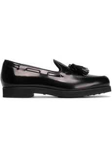 Tod's Woman Tasseled Leather Loafers Black