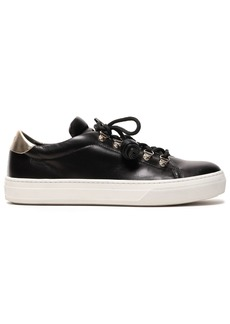 Tod's Woman Tasseled Leather Sneakers Black
