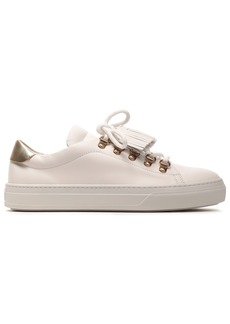 Tod's Woman Tasseled Leather Sneakers White