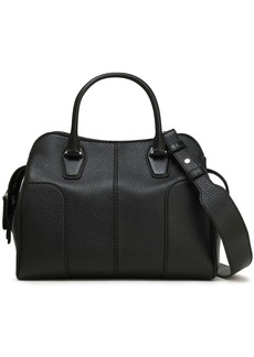 Tod's Woman Textured-leather Tote Black