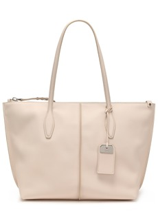 Tod's Woman Textured-leather Tote Ivory