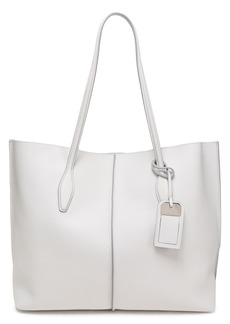 Tod's Woman Textured-leather Tote Light Gray