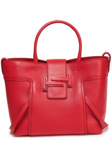 Tod's Woman Textured-leather Tote Red