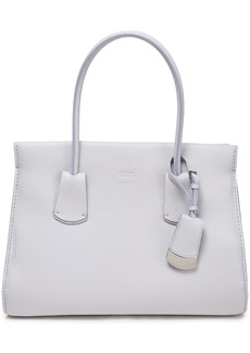 Tod's Woman Textured-leather Tote Sky Blue