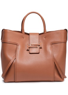 Tod's Woman Textured-leather Tote Tan