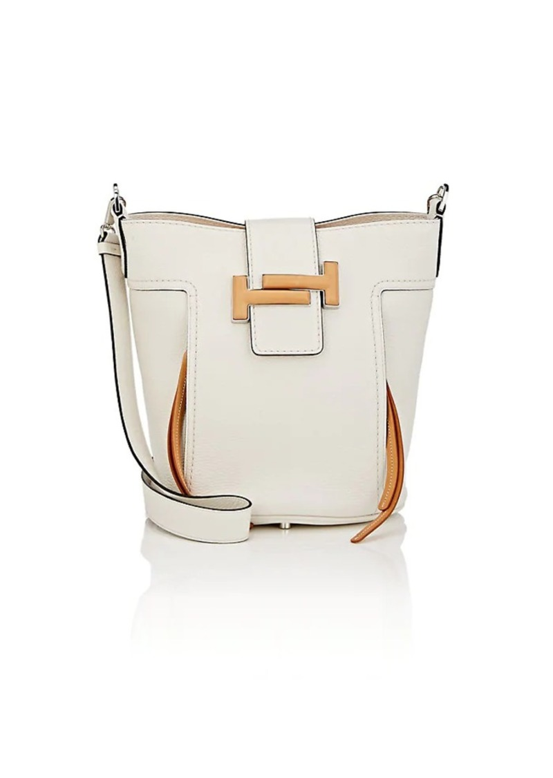 510b67e885c Tod's Tod's Women's Double T Medium Leather Bucket Bag - White ...