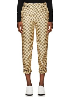 Tod's Women's Silk Twill Crop Trousers