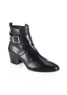 Wraparound Leather Booties