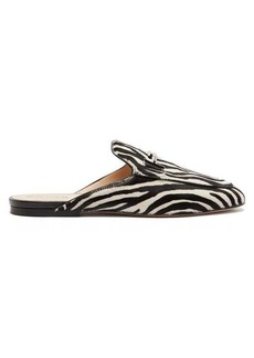 Tod's Zebra-patterned backless loafers