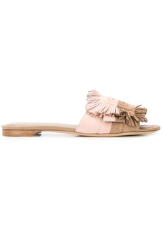 Tod's flat suede sandals