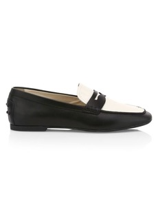 Tod's Two-Tone Leather Driver Loafers