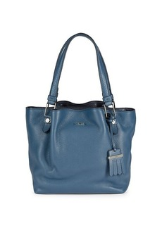 Tod's Zip Piccola Leather Shopping Bag
