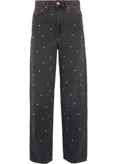 Étoile Isabel Marant Curt faux pearl-embellished low-rise boyfriend jeans