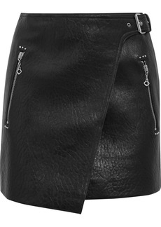 Isabel Marant Étoile Kakili textured-leather mini wrap skirt