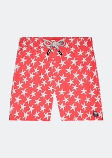 Tom & Teddy Mens Rose + Blue Starfish Swim Shorts - XXL - Also in: S, XL, L, M