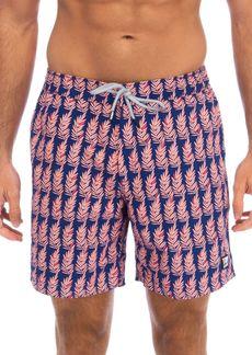 TOM & TEDDY Fern-Print Swim Trunks