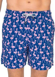 TOM & TEDDY Flamingo Print Swim Trunks