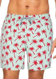 TOM & TEDDY Palm Swim Trunks