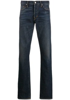 Tom Ford stonewashed effect straight jeans
