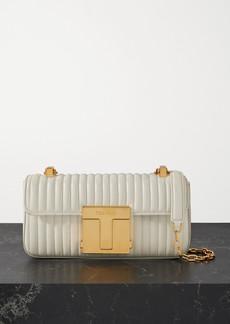 Tom Ford 001 Medium Quilted Leather Shoulder Bag