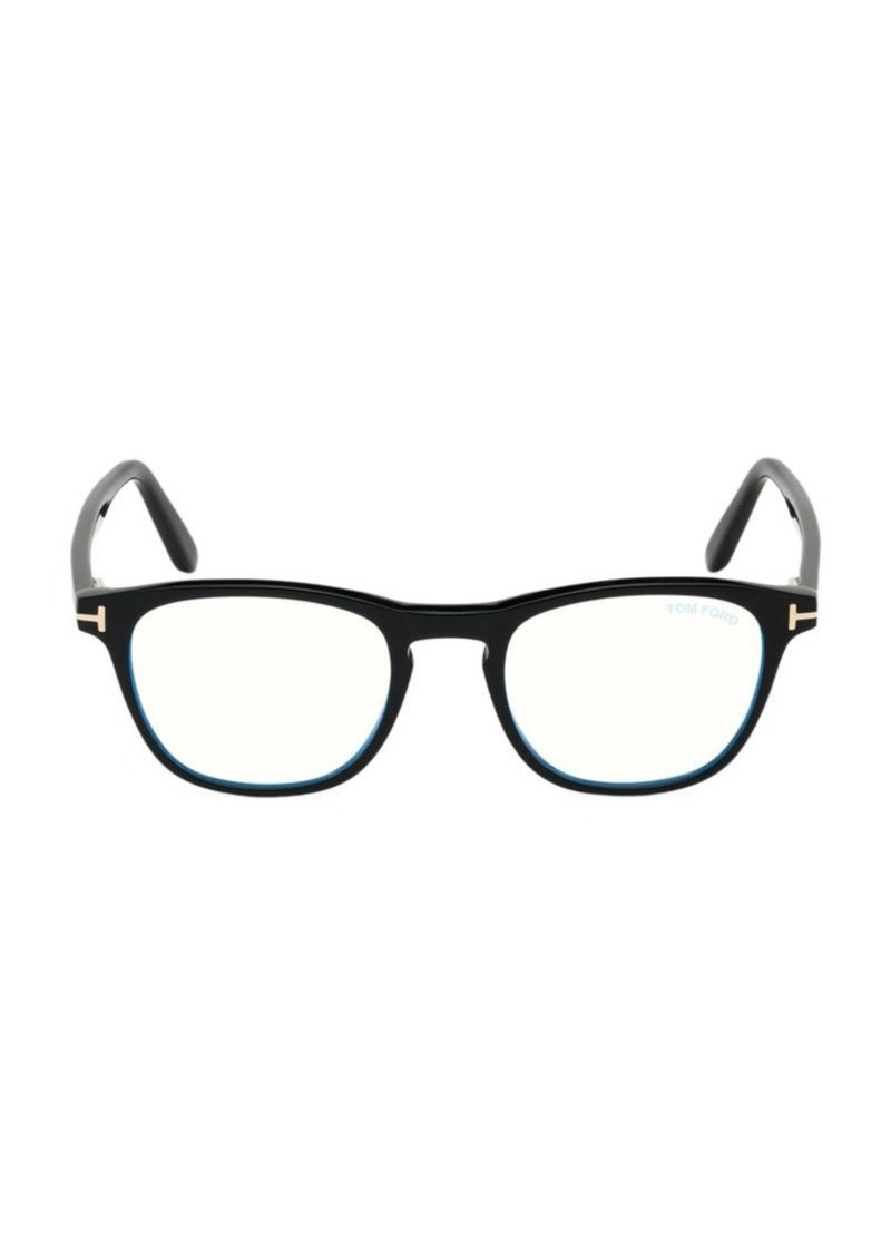 Tom Ford 48MM Square Blue Block Optical Glasses