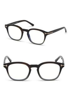 Tom Ford 49MM Soft Square Gradient Optical Eyeglasses