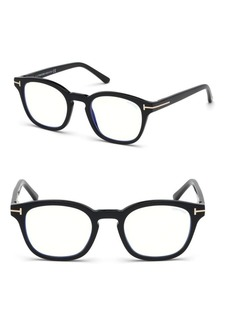 Tom Ford 49MM Soft Square Optical Eyeglasses