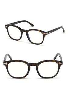 Tom Ford 49MM Soft Square Tortoise Shell Optical Eyeglasses