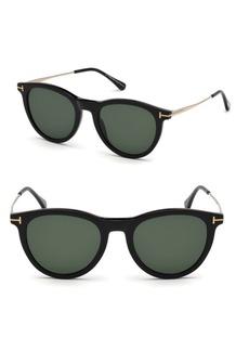 Tom Ford Kellan 51MM Round Sunglasses