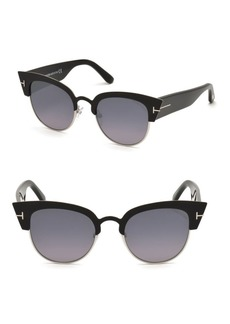 52MM Alexandra Cat Eye Gradient Sunglasses