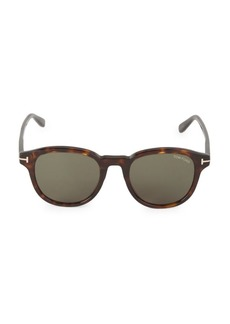 Tom Ford 52MM Round Plastic Sunglasses