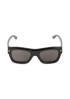 Tom Ford 52MM Rounded Rectangle Sunglasses