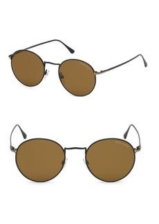 Tom Ford 52mm Ryan Round Sunglasses