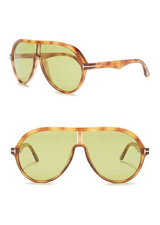 Tom Ford Montgomery 53mm Aviator Shield Sunglasses