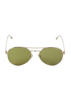 Tom Ford 55MM Browline Aviator Sunglasses
